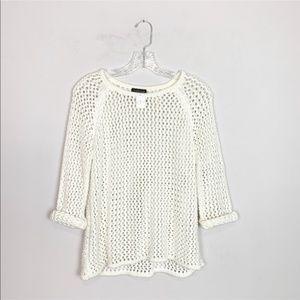 Topshop crochet loose knit sweater 3/4 sleeve 2